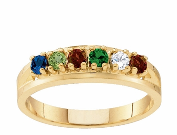 Classic Birthstone Family Ring in Gold