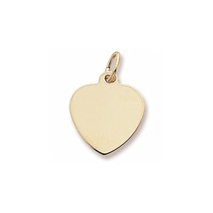 Classic Extra Small Heart Charm by Forever Charms - Personalized
