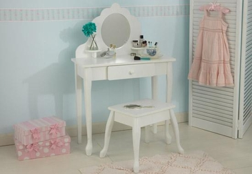 Classic Kids Vanity Table and Stool
