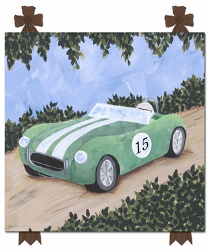 Classic Roadster III Stretched Art Personalized by Dish and Spoon