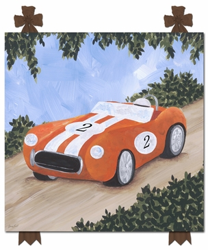 Classic Roadsters Stretched Art Personalized by Dish and Spoon