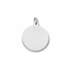 Classic Small Disc Charm by Forever Charms - Personalized
