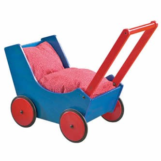 Classic Wooden Doll Carriage