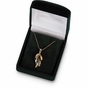 Classy Diamond Necklace with multicolored gems - click to Enlarge