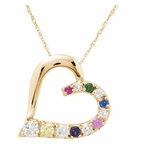 """Close to My Heart"" Birthstone Pendant Necklace - with Genuine Stones"