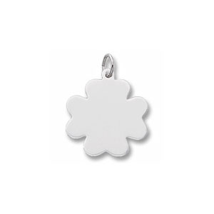 Clover Disc Charm by Forever Charms - Personalized
