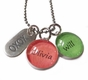 Colorful Glass Dome Name Necklaces - click to Enlarge