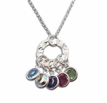Contemporary Love Crystals Necklace