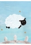 Count The Sheep Prairie Pink Wall Hanging Personalized by Dish and Spoon - click to Enlarge