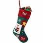 Country Patchwork Christmas Stockings - Personalized - click to Enlarge