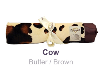 Cow Butter Brown Animal Print Velour Blanket by My Blankee