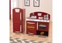 Cranberry Retro Kitchen and Refrigerator - click to Enlarge
