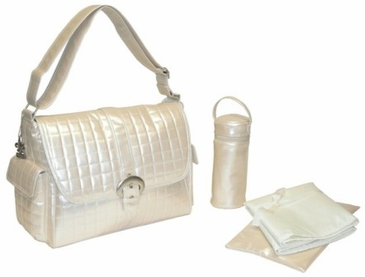 Cream - Monique Diaper Bag by Kalencom