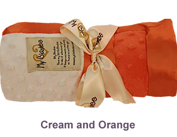 Cream Orange Dot Velour Two Tone Blanket by My Blankee