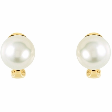 Cultured South Sea Paspaley Pearl Intricated with Omega Back