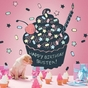 Cupcake Chalkboard Peel & Place Wall Art - click to Enlarge