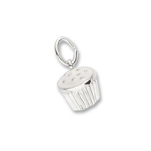 Cupcake White Charm by Forever Charms