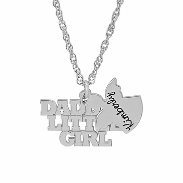 Daddy's Angel Charm Necklace