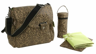 Dainty Coffee - Ozz Water Repellent Diaper Bag by Kalencom