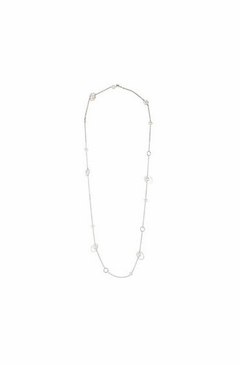 Dainty Sterling Silver Necklace with Pear Accents