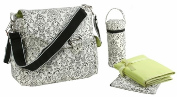Dainty White - Ozz Water Repellent Diaper Bag by Kalencom