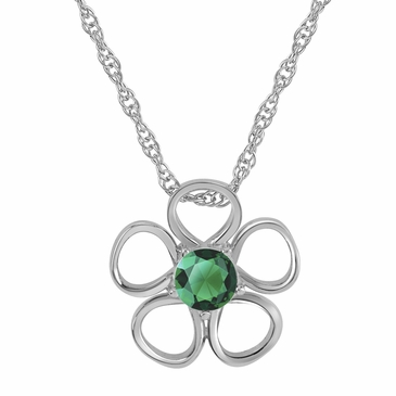 Daisy Birthstone Pendant Necklace - May