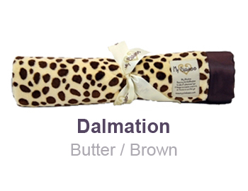 Dalmation Butter Brown Animal Print Velour Blanket by My Blankee