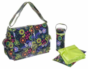 Dandelion Grape - Laminated Buckle Diaper Bag by Kalencom