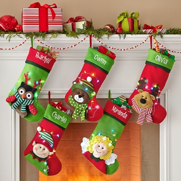 Darling Christmas Stocking with Lights