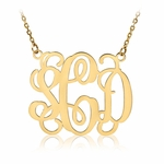 Dazzling 14K Yellow Gold-Plated Monogram Necklace