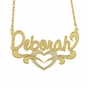 """Delicate Heart"" Script Name Necklace - click to Enlarge"