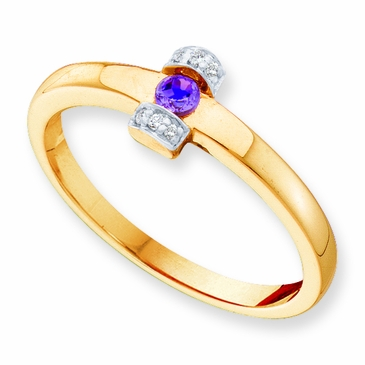 Diamond Accented Mother's Ring - with Genuine Stones
