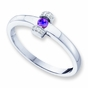 Diamond Accented Mother's Ring - with Genuine Stones - click to Enlarge