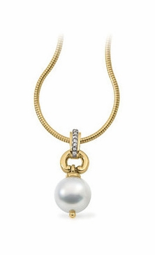 Diamond Pendant With Elegant South Sea Pearl