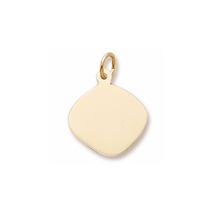 Diamond Small Disc Charm by Forever Charms - Personalized