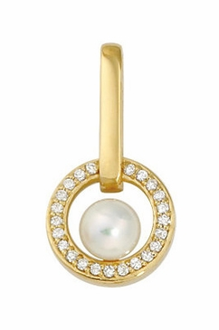 Diamond Studded Pearl Pendant