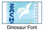 Dinosaur Growth Chart Personalized - Blue - click to Enlarge
