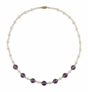 Divine Pearl & Amethyst Necklace
