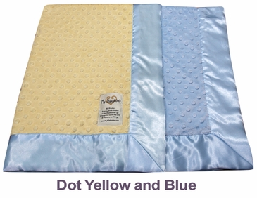 Dot Yellow Blue Dot Velour Two Tone Blanket by My Blankee