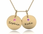 Double Chic Birthstone Necklace - click to Enlarge