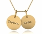 Double Chic Necklace With Name - click to Enlarge