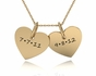 Double Heart Charm Necklace - click to Enlarge