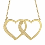 Double Heart Name Necklace - click to Enlarge
