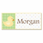 "Duck Canvas Wall Art Personalized - 10"" x 24"""