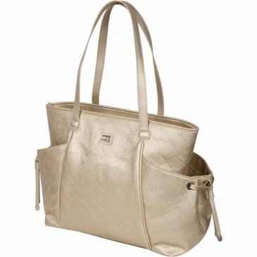 Embossed Gold Diaper Bag by Bumble Bags