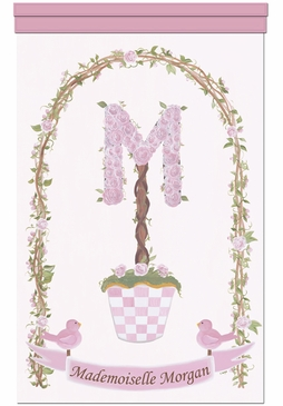 English Roses Arbour Wall Hanging Personalized by Dish and Spoon
