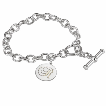 Engraved Name or Initial Disc Bracelet