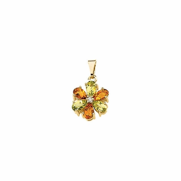 Ethereal Diamond Pendant with multicolored stones