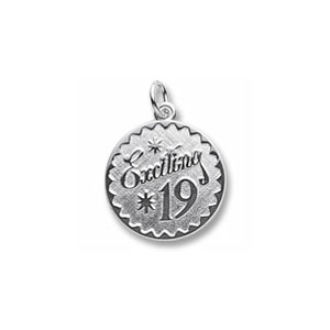 Exciting 19 Charm by Forever Charms - Personalized
