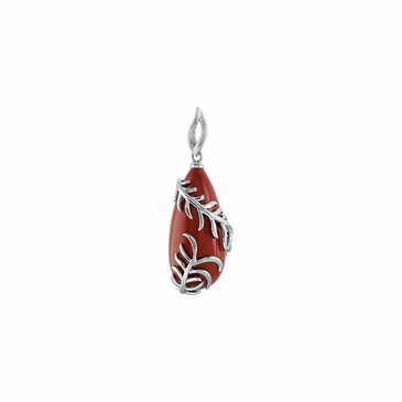 Exquisite Red Jasper Sterling Silver Pendant
